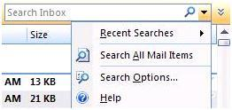 Search all mail items outlook 2007