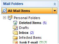 Search all folders in Outlook 2007 2