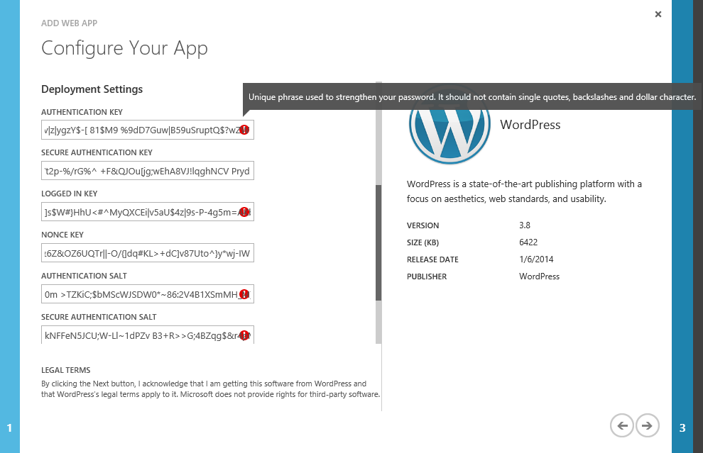 How to set up a Wordpress website in your Windows Azure account