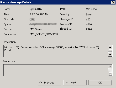 sccm_message_id_620_sql_message_50000_severity_16