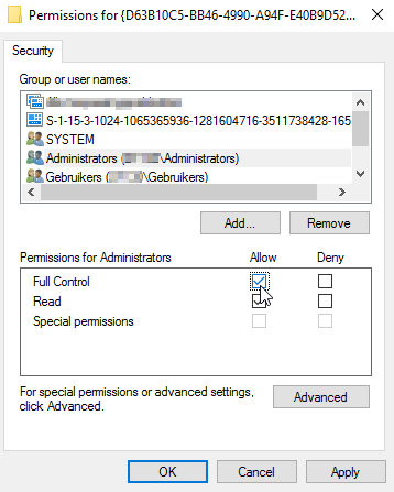 Event ID 10016 The application-specific permission settings do not grant Local Activation permission for the COM Server application with CLSID 9