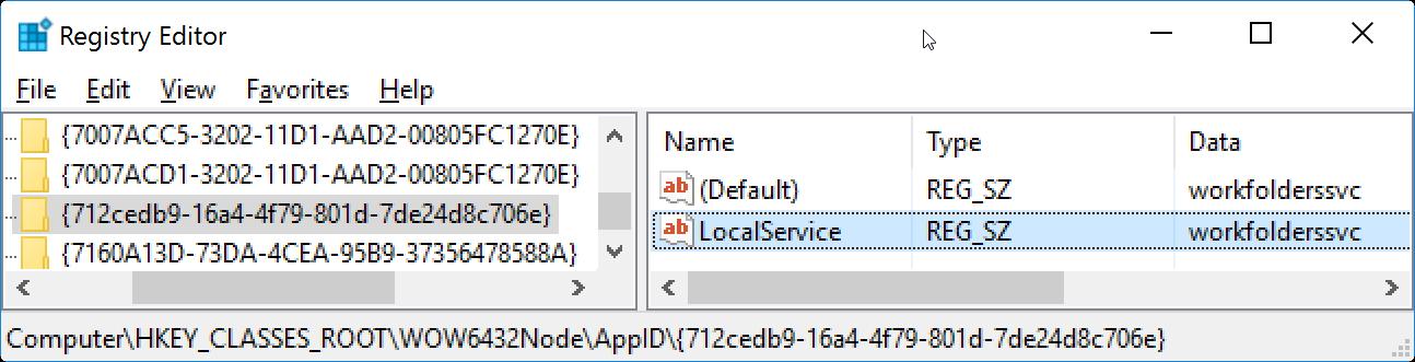The server {DA1C0281-456B-4F14-A46D-8ED2E21A866F} did not register