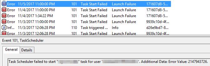 task scheduler event 101 error 2147943726