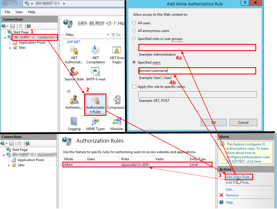 IIS AD Group permission - setting up in Windows Server 2016