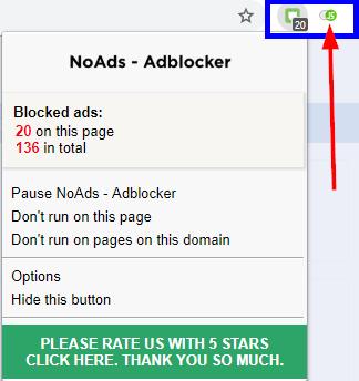 Chrome Adblocker Javascript enabled