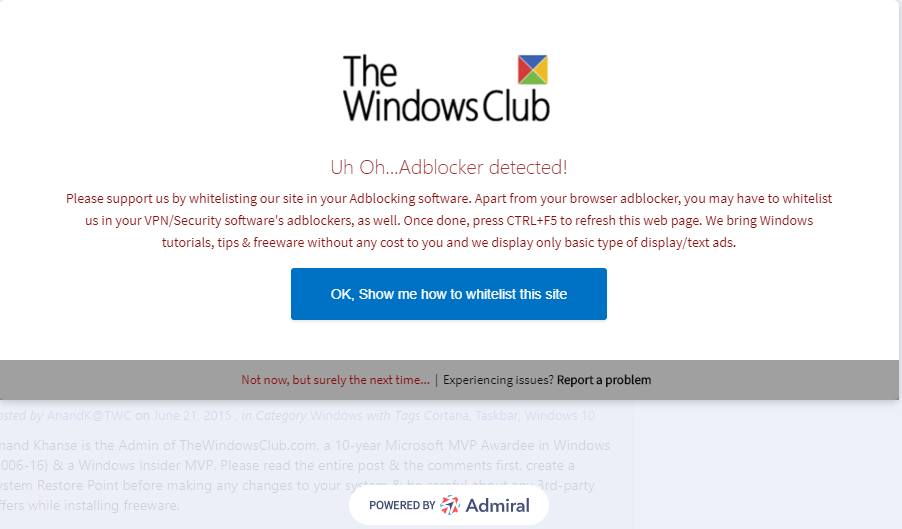 How to Bypass Admiral Adblock Detection conveniently