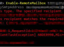 FIX: This task does not support recipients of this type  The