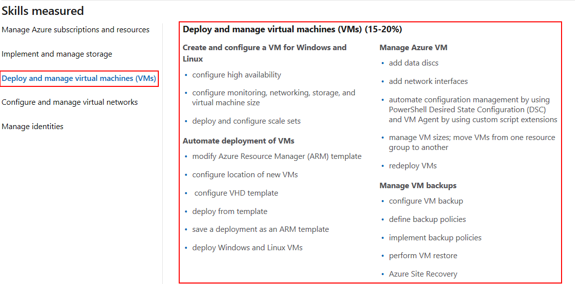 AZ-103 Study Guide - Part 3 - Deploy and manage virtual