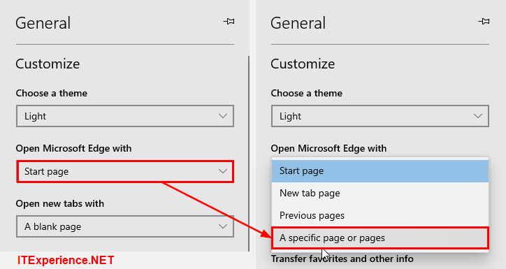How to set homepage in Edge - Windows 10 1909 2