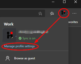 1 edge manage profile settings