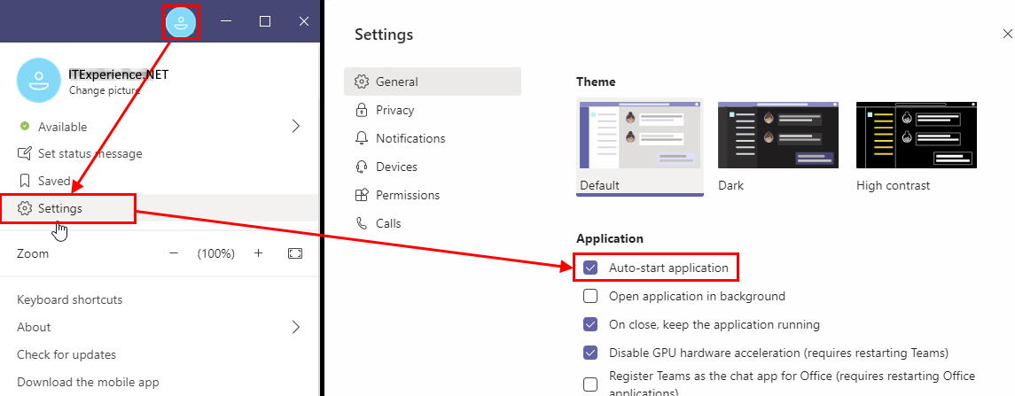 microsoft teams disable auto-start