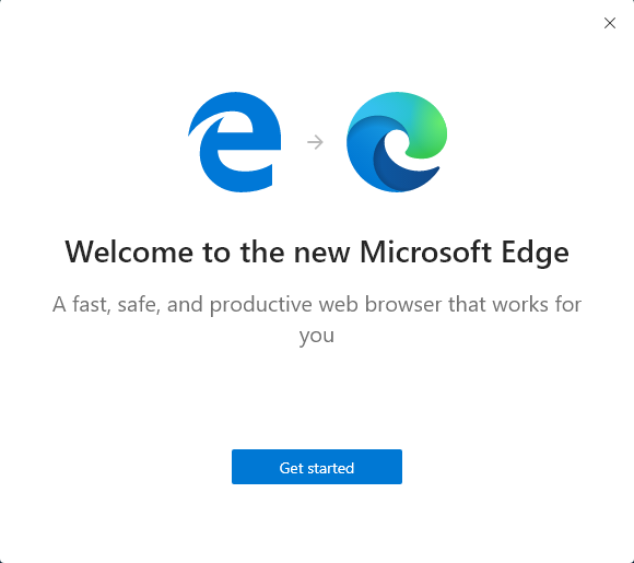 welcome to the new edge get started