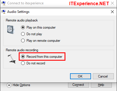 remote audio recording record from this computer