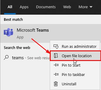 microsoft teams open file location