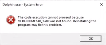 VCRUNTIME140_1.dll was not found