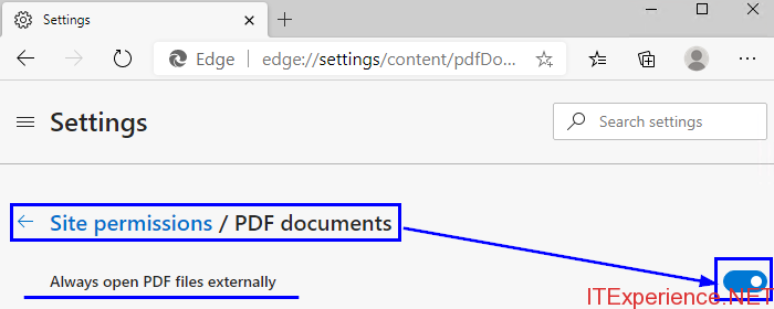 prevent edge from opening PDF files