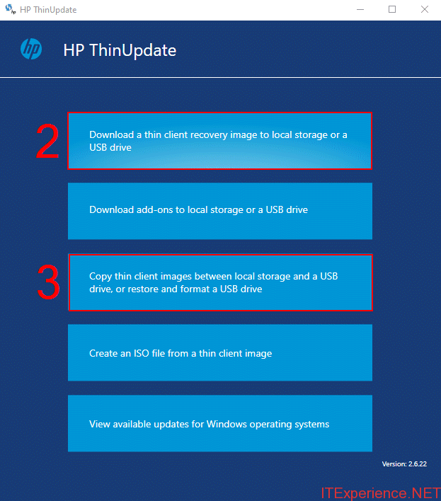 copy thin client images hp thinupdate