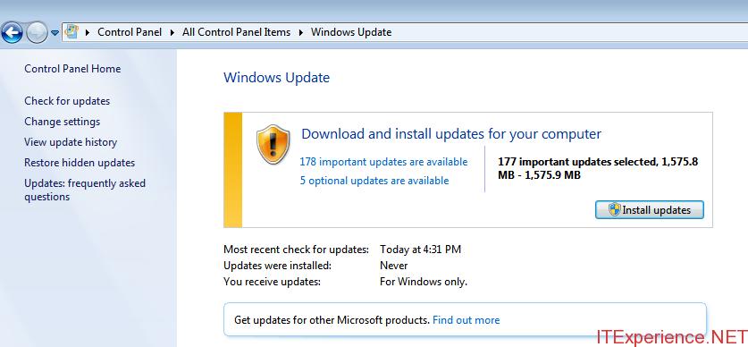 updates after kb3138612