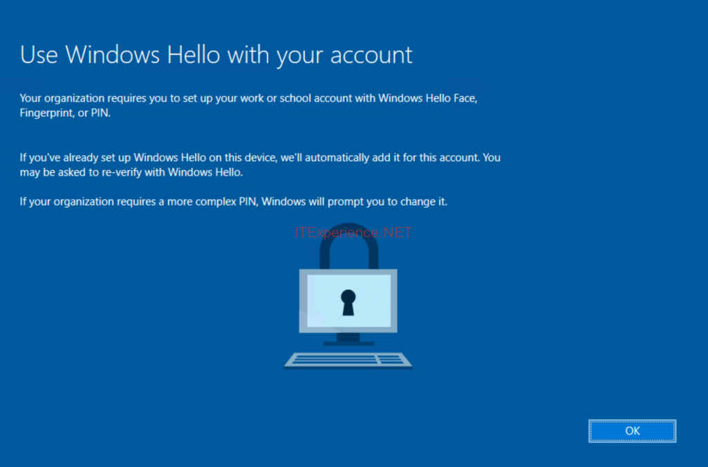 windows hello for business set up pin